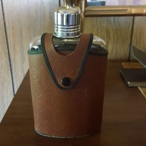 Vintage flask,  genuine leather